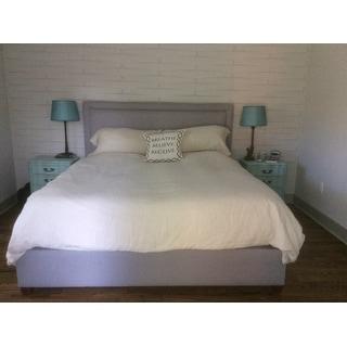Echelon Home Washed Belgian Linen Duvet Cover Set