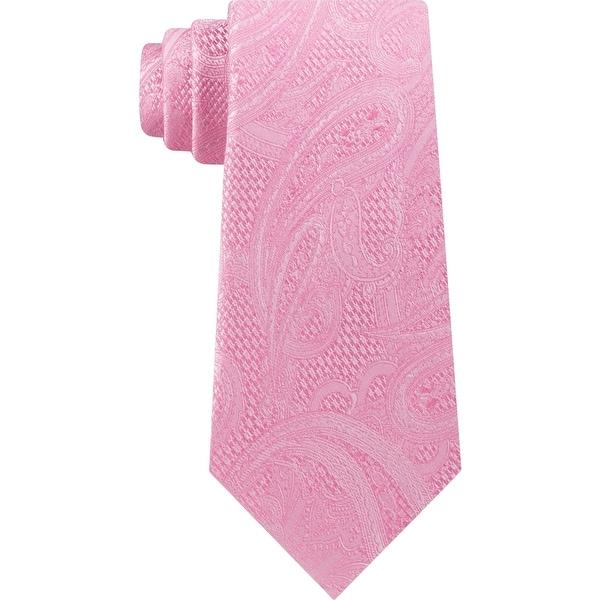Michael Kors Mens Neck Tie Silk Paisley - O/S. Opens flyout.