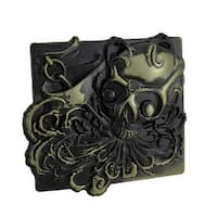 `Wild As The Wind` Skull Belt Buckle Brass Finish
