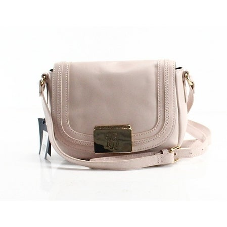Shop Tommy Hilfiger NEW Beige Leather Violet Small Saddle Crossbody Purse - Free  Shipping Today - Overstock - 18794315 738c4d25db990