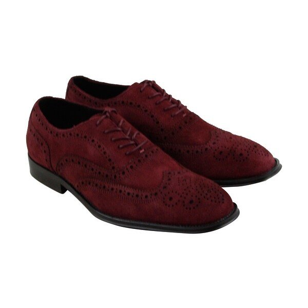 Kenneth Cole New York Design 10521 Mens Red Casual Dress Oxfords Shoes