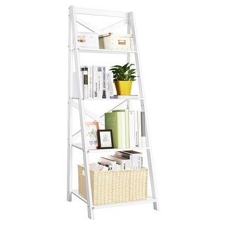 Link to Costway 4-Tier Ladder Shelf Bookshelf Bookcase Storage Display Plant Similar Items in Bookshelves & Bookcases
