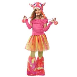 Girls Wild Child Monster Colorful Halloween Costume