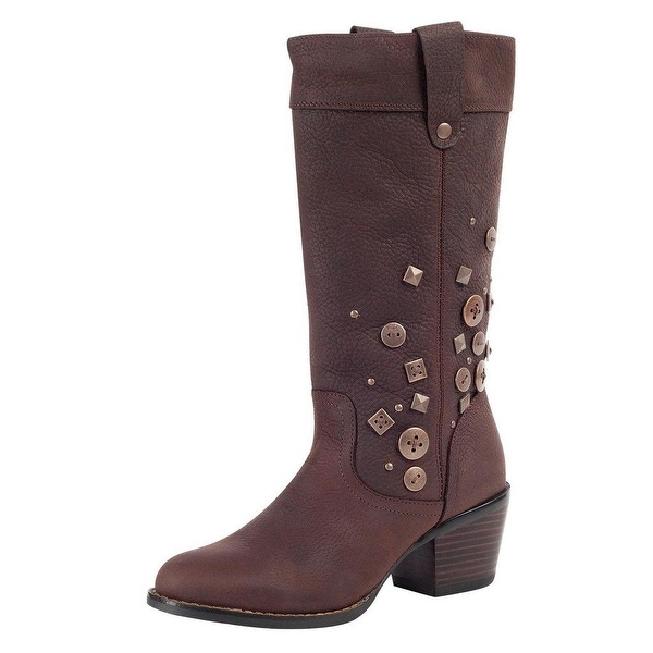 "Durango Fashion Boots Womens 12"" Philly Turn Down Chocolate"