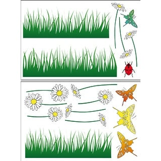Brewster DM74312  Variable Sized - Butterflies Meadow - Self-Adhesive Repositionable Vinyl Wall Decal - Set of 18