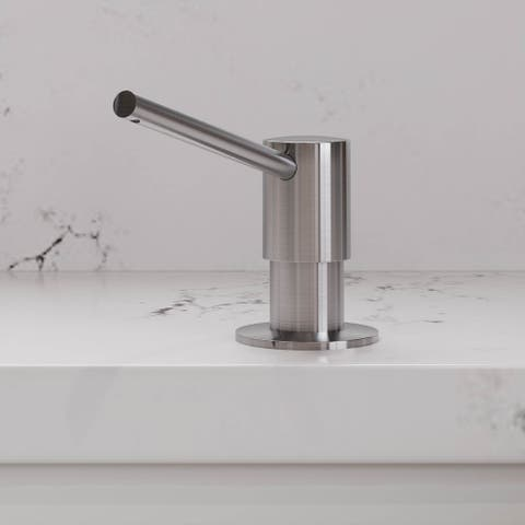Alfi Brand AB5006-BSS Modern Round Brushed Stainless Steel Soap Dispenser