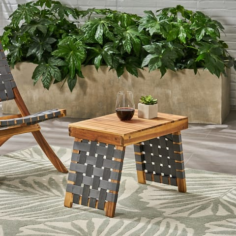 Christopher Knight Home Huntsville Acacia Wood Outdoor Foldable Side Table