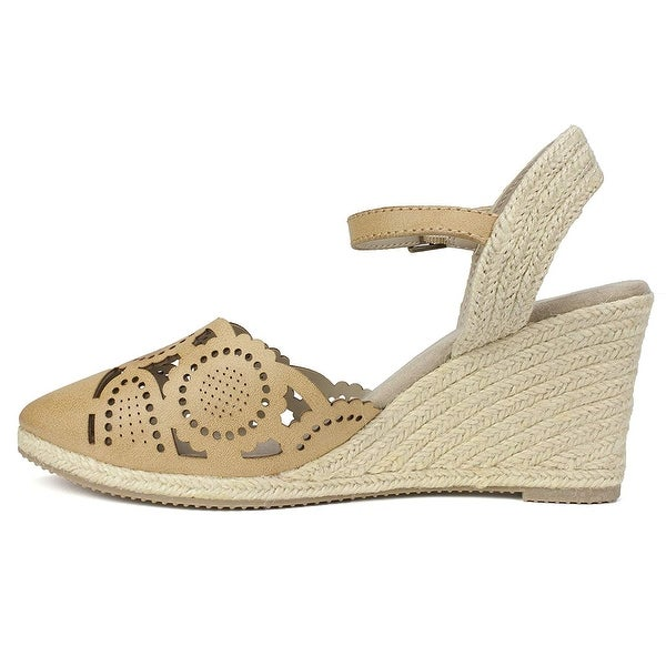 Rialto Womens Coya Leather Closed Toe Casual Espadrille Sandals. Opens flyout.