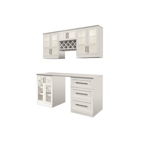 """NewAge Products Home Bar Series 72"""" W x 25""""D 6 PC Shaker Style"""