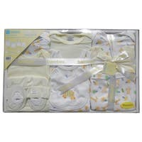 Bambini Baby Unisex Yellow Pastel Cotton Interlock 10-Pc Boxed Gift Set - One size