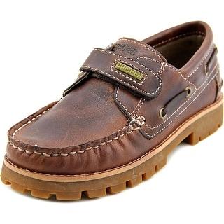 Camper Compas Loafer Youth Moc Toe Leather Brown Loafer