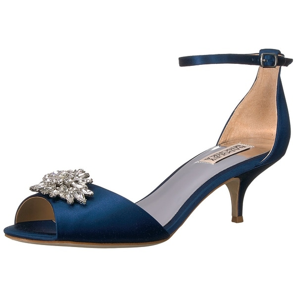 Badgley Mischka Women's Sainte Heeled Sandal, Navy, Size 10.0 - 10