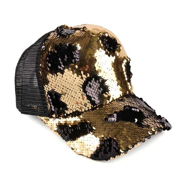ed374f401f452 Shop Riah Fashion s Two Tone Sequin Baseball Cap - Free Shipping On ...