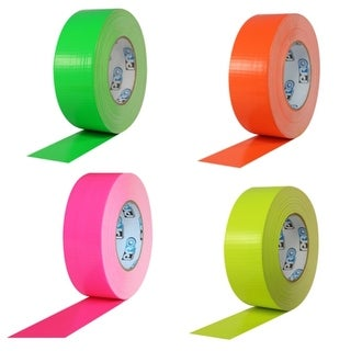 """Pro® Duct 139 Fluorescent Duct Tape 4"""" x 60 yard 12 Roll Case (4 options available)"""