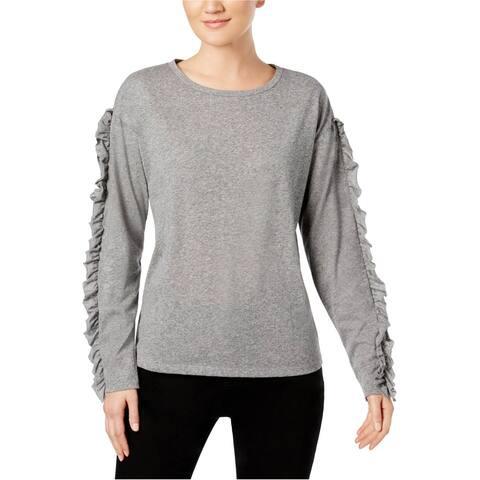 I-N-C Womens Ruffled Sleeve Basic T-Shirt
