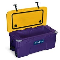 Kysek The Ultimate Ice Chest with Wheels 50 Liter Purple/Gold Cooler