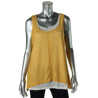 Jones New York Womens Textured Layered Pullover Top - S