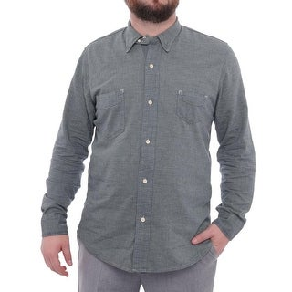 Sunset Long Sleeve Collared Button Down Men Regular Casual