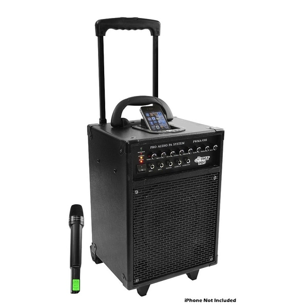 shop 600 watt vhf wireless portable pa system echo w ipod dock free shipping today overstock. Black Bedroom Furniture Sets. Home Design Ideas