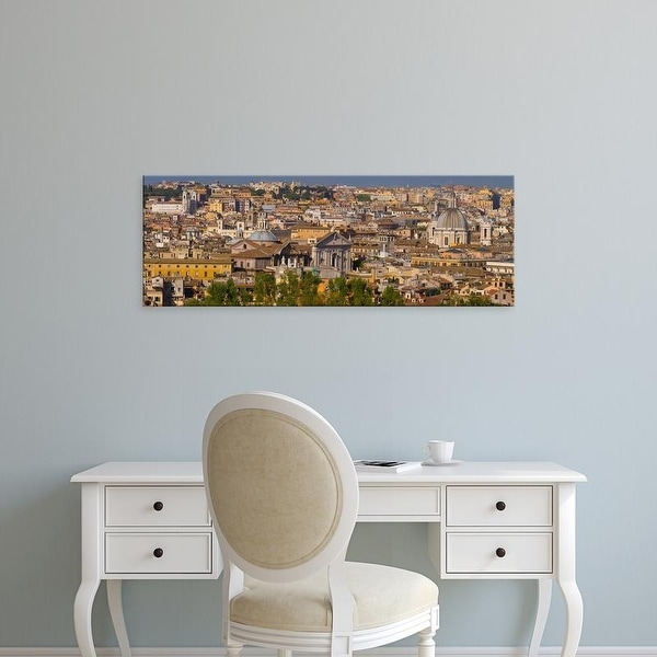 Easy Art Prints Panoramic Images's 'High angle view of a cityscape, Rome, Lazio, Italy' Premium Canvas Art