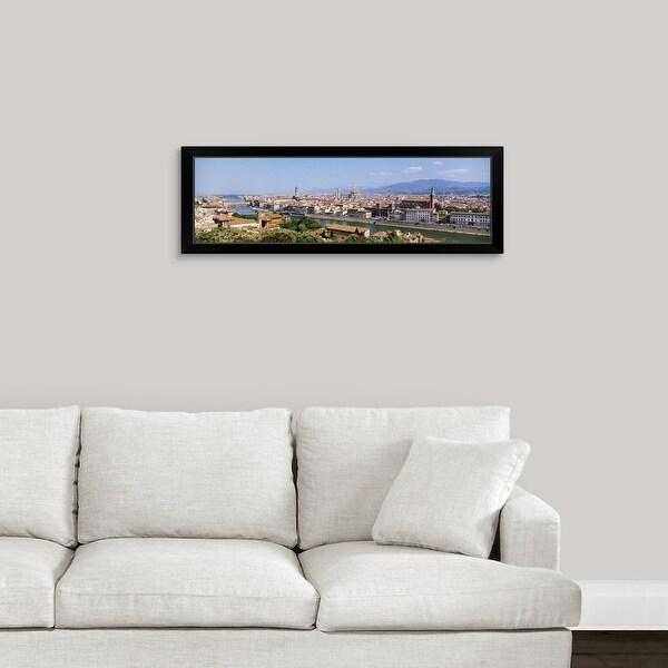 """City skyline Toscana Firenze Italy"" Black Framed Print"