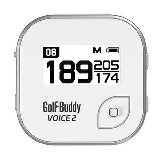Golf Buddy Voice 2 Easy-to-Use Smart Talking Golf GPS Silver