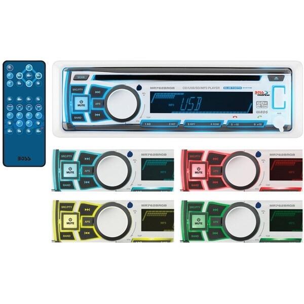 Boss Audio Mr762Brgb Marine Single-Din In-Dash Cd Am/Fm Receiver With Bluetooth(R), Rgb Illumination & Wireless App Control
