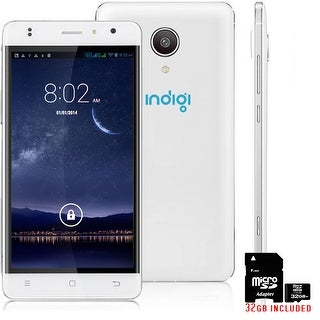 """Indigi 4G Lte SmartPhone Android 6.0 MarshMallow 5"""" IPS Curved Screen + 32gb ! - White"""