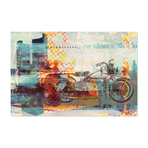 Abstract Art Cars Cycling Motorcycle Unframed Wall Art Print/Poster