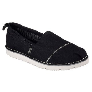 Skechers 34314 BLK Women's BOBS CHILL FLEX-HOT 2 TROT Flat