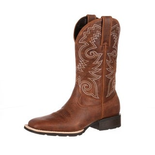 Durango Western Boots Mens Mustang Pull Straps Square Brown DDB0083