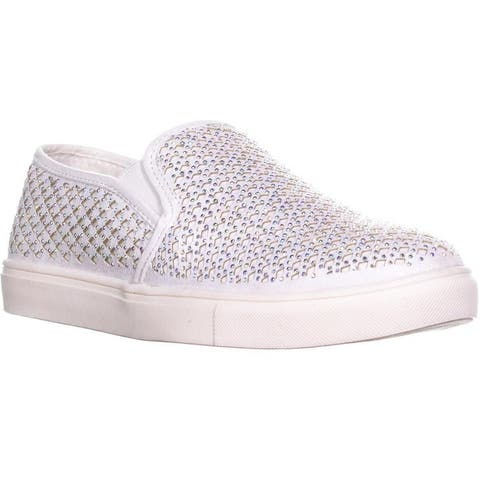 Material Girl Womens Eidyth Fabric Low Top Slip On Fashion Sneakers
