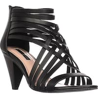 INC International Concepts I35 Garoldd Strappy Heeled Sandals, Black