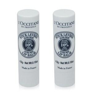 L'Occitane Shea Butter Ultra Rich Lip Balm-5g - 2 Pack