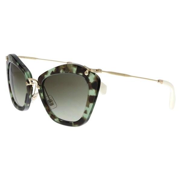 335b043e921c MIU MIU MU10NS UAG4K1 Black Green Havana Butterfly Sunglasses - No Size.  Click to Zoom