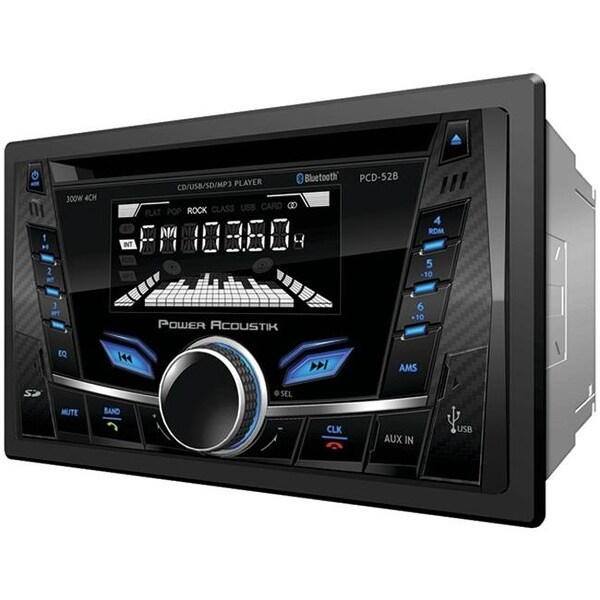 Double-DIN In-Dash CD-MP3 AM-FM Receiver with Bluetooth & USB