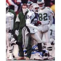 Larry Brown Autographed Dallas Cowboys 8x10 Photo White