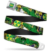 Marvel Comics The Hulk Full Color The Hulk Action Pose Radioactive Symbol Seatbelt Belt