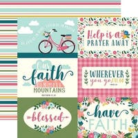 """Journaling Cards - Have Faith Double-Sided Cardstock 12""""X12"""" (25/Pack)"""