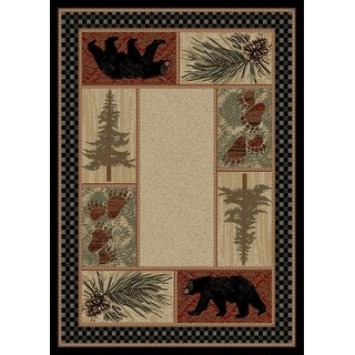Link to American Destination Cades Cove Lodge Area Rug Similar Items in Rustic Rugs
