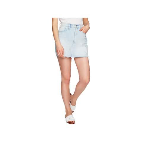 1.State Womens Denim Skirt Denim Casual