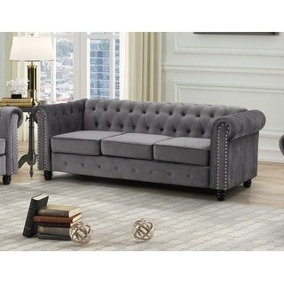 Link to Best Master Furniture Tufted Upholstered Sofa Similar Items in Sofas & Couches