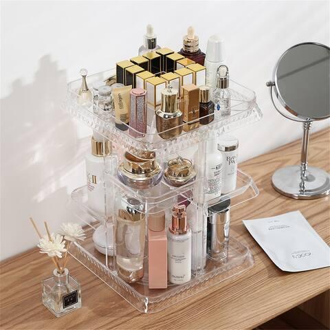 Makeup Organizer 360 Degree Rotation 7 Layers Adjustable Storage
