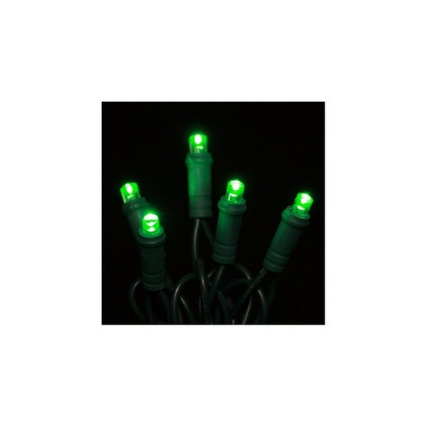 Christmas at Winterland S-35MMGR-4G 12.5 Foot String of Green 5MM Polka-dot LED Lights with 4 Inch Spacing and Green Wire - N/A