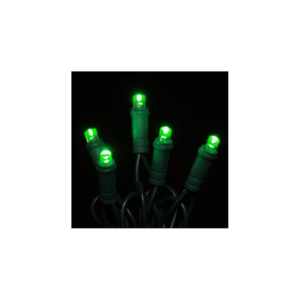 Christmas at Winterland S-50MMGR-6G 25 Foot String of Green M5 LED Lights with 6 Inch Spacing and Green Wire - N/A
