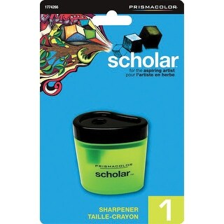 Prismacolor Scholar Single Hole Colored Manual Pencil Sharpener, 2 x 1 x 2 Inches, Translucent Green