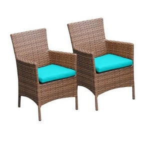 "Miseno MPF-TKC093BDC Southern California 2-Piece 35"" Tall Aluminum Framed Outdoor Dining Arm Chair Set"