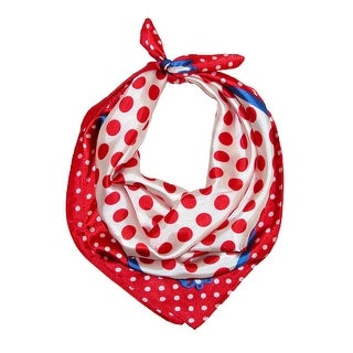 CTM® Women's Polka Dot Square Scarf - One size