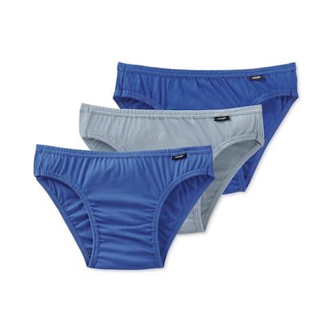 Jockey Mens 3-Pack Underwear Thongs, Blue, Small