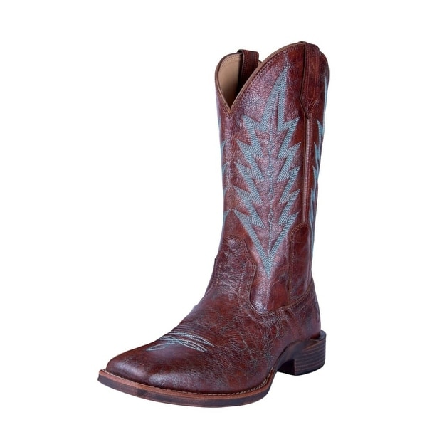 Noble Outfitters Western Boot Women Dakota Crackle Around Cognac